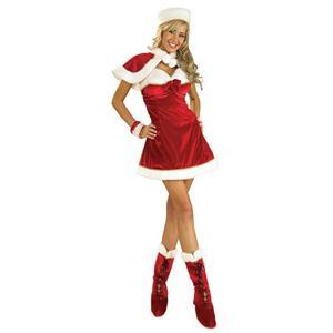 Women's Santa's Miss Inspiration Sexy Adult Ladies Christmas Dress