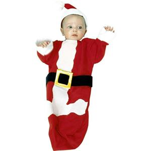 Santa Baby Bunting Christmas Costume Newborn to 6 Months Baby's 1st Christmas