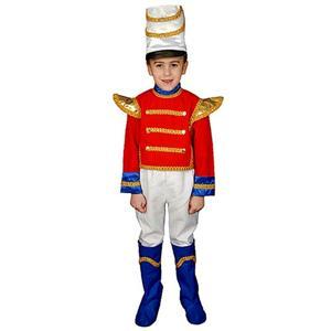 Deluxe Toy Soldier Christmas Nutcracker Child Costume Set Size Medium 8-10