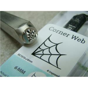 """Spider Web"" 1/4""-6mm-Large Stamp-Metal-Hardened Steel-Gold & Silver Bar Tattoo"