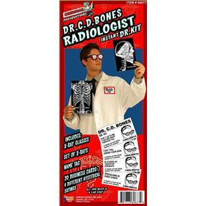 Dr. C. D. Bones Radiologist Kit Humorous Adult Costume Kit