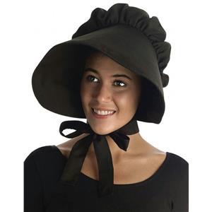 Large Black Floppy Brimmed Bonnet Adult Hat