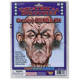 Cranky Grumpy Old Man Facial Ear and Nose Hair Kit