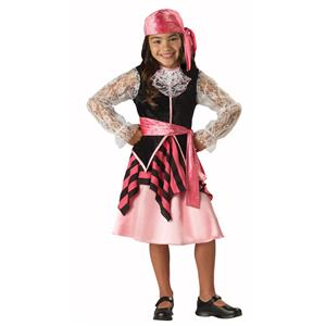 Cap'n Captain Cutie Girls Deluxe Pirate Child Costume Size 8