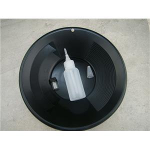 """10"""" Black Gold Pan - Panning Kit , Bottle Snuffer, & Vial - Mining Prospecting"""