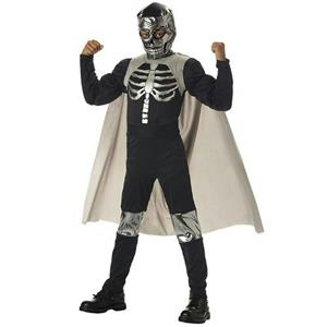 El Muerto Mexican Pro Wrestler Luchadore Child Costume Size Large 10-12