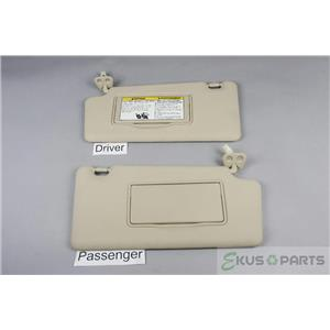 2008-2014 Nissan Rogue Sun Visor Set with Covered Lighted Mirrors