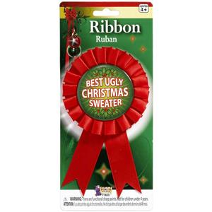 Best Ugly Ugliest Christmas Sweater Award Contest Winner Ribbon