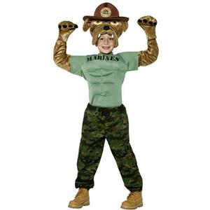 Military Soldier Chesty the Marine Bulldog Child Costume Size Small 4-6