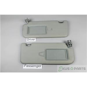2011 2012-2015 Kia Sorento Sun Visor Set Pair Covered Mirrors Extension Panels