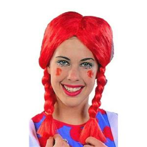 Red Braided Pigtail Wig