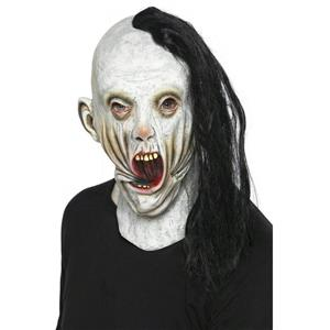 Screamer Adult Mask with Attached Hair
