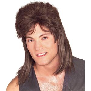 Brown Mullet Trailer Trash Costume Wig