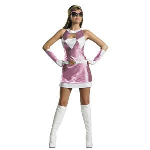 Pink Power Ranger Sassy Deluxe Womens Adult Costume Size Large 12-14