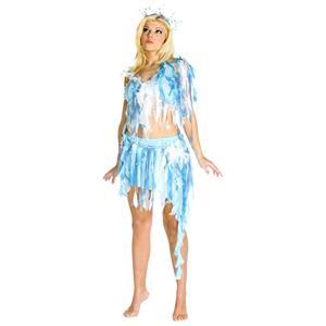 Winter Nymph White Ice Goddess Princess Fairy Adult Costume