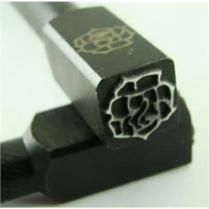 """Rose Flower""  3/8""-10mm-Large Stamp-Metal-Hardened Steel-Gold&Silver Bars"