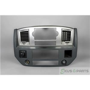 2006-2008 Dodge Ram 1500 2500 3500 Radio Climate Dash Trim Bezel with Vents