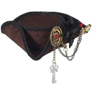 Mini Steampunk Tricorn Pirate Hat
