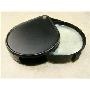 "Prospectors Large 4X Pocket Magnifier / Loupe 2-1/2"" Glass Lens Jewelers Gold"