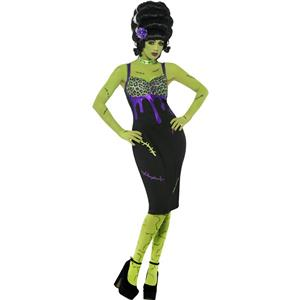 Pin Up Frankie Sexy Bride of Frankenstein Adult Costume Size Small