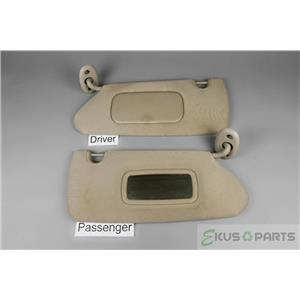 Dodge Durango Sun Visor Set Driver Covered Passenger Uncovered Mirrors 2004-2008