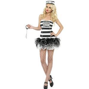 Fever Convict Cutie Adult Costume Size Medium