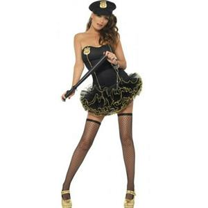 Fever Tutu Police Adult Costume Size Medium