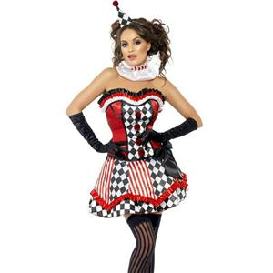 Fever Deluxe Clown Cutie Adult Costume Size Small