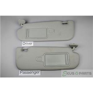2011-2015 Kia Optima Sun Visor Pair Set Covered Mirrors Adjustable Arm Bars