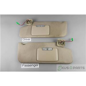 2010-2013 Ford Taurus Sun Visor Set with Covered Lighted Mirrors and Homelink