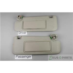 2011-2015 Chevrolet Cruze Sun Visor Set with Covered Lighted Mirrors
