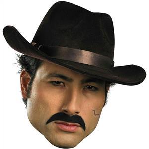 Self Adhesive Black Gangster Mustache Facial Hair