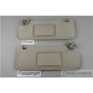 2009-2014 Chevrolet Malibu Sun Visor Set with Covered Mirrors and Adjust Bar