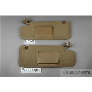 09-18 Chevrolet Malibu 11-15 Volt 07-09 Aura Sun Visor Set Pair Covered Mirrors