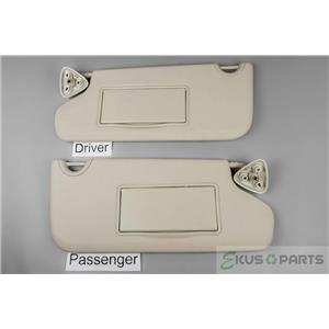 2009-2017 Dodge Journey Sun Visor Set Pair Covered Mirrors Adjustable Bars