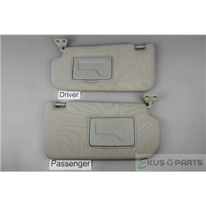2005-2009 Hyundai Tucson Sun Visor Set with Covered Mirrors and Extend Panels