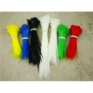 """Cable Zip Tie Set, 650 Pieces, 4""""-6""""-8"""", White, Black, Red, Blue, Green"""