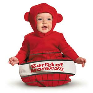 Barrel of Monkeys Bunting Costume Newborn Size 0-6 mos