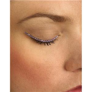 Purple Violet Sparkle Eyelid Jewels Decoration For Eyes