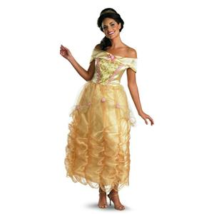Disney Beauty And The Beast: Belle Adult Deluxe Costume Size Large 12-14