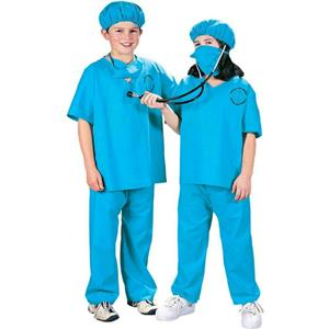 Kids Doctor, Doctor Child Unisex Scrubs Costume Size Medium 8-10
