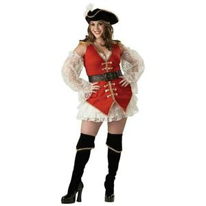 Pirate Treasure Plus Size Sexy Deluxe Pirate Adult Costume XL