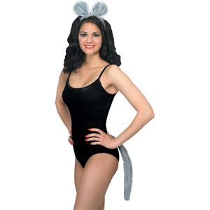Mouse Costume Accessory Ears and Tail Set Adult Size