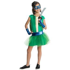 Teenage Mutant Ninja Turtles Deluxe Leonardo Tutu Dress Girls Costume Size Small
