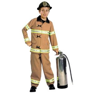 Kids Firefighter Fireman Child Costume Size Large