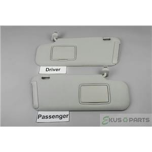 2007-12 Mazda CX7 Sun Visor Set Pair Covered Non-Lighted Mirrors Extension Panel
