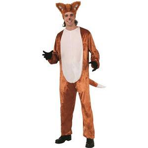 Forum Men's Fox Adult Costume Jumpsuit and Hat