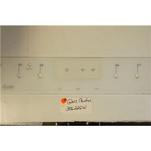 AMANA Stove 306226W Glass, Control   USED PART