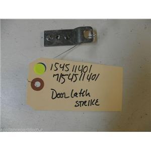 ELECTROLUX FRIGIDAIRE DISHWASHER 154511401 7154511401 DOOR LATCH STRIKE USED