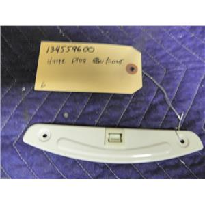 """FRIDIDIARE DRYER 134559600 PLUG, HINGE CUTOUT """"WHITE"""" USED PART ASSEMBLY"""